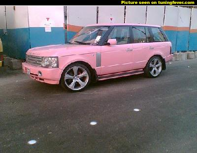 land rover pink