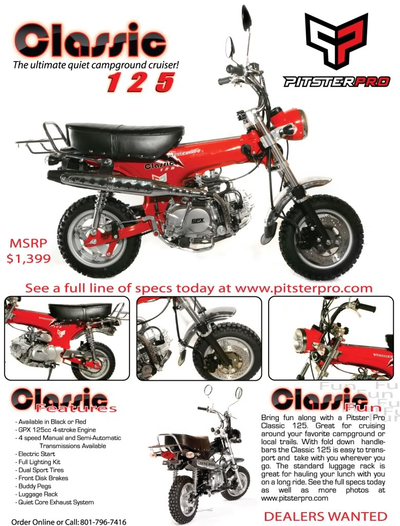 pitster pro classic 125