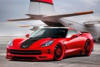 Design packages in red, black and blue for 2016 Corvette and Z06