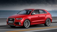 The Audi RS Q3 crossover is shown to the public